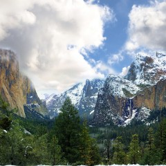 Yosemite Valley in wind driven Cloud (YOS-025)