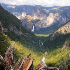 Bridal Veil from Cascade Creek (YOS-014)