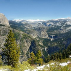 Half Dome Panoramic from Glacier Point (YOS-019)