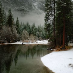 Merced River Yosemite in the Winter (YOS-005)
