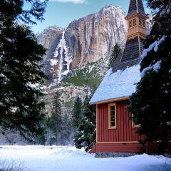 Yosemite Fall from side of Church (YOS-012)