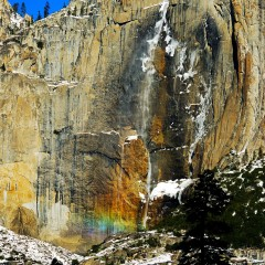 Yosemite Falls Rainbow in Snow (YOS-004)